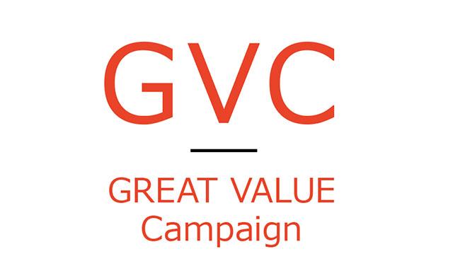 GVCグレートバリューキャンペーンロゴ